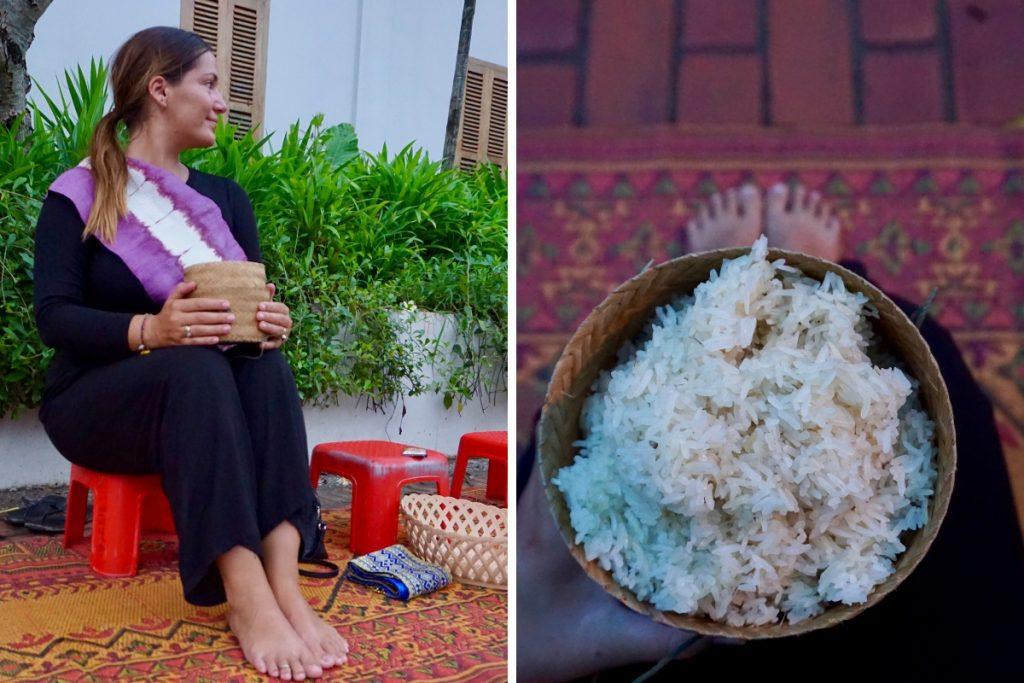 Girl Laos Monk Alms