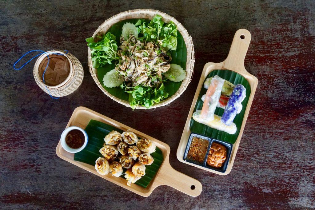 vegan food laos