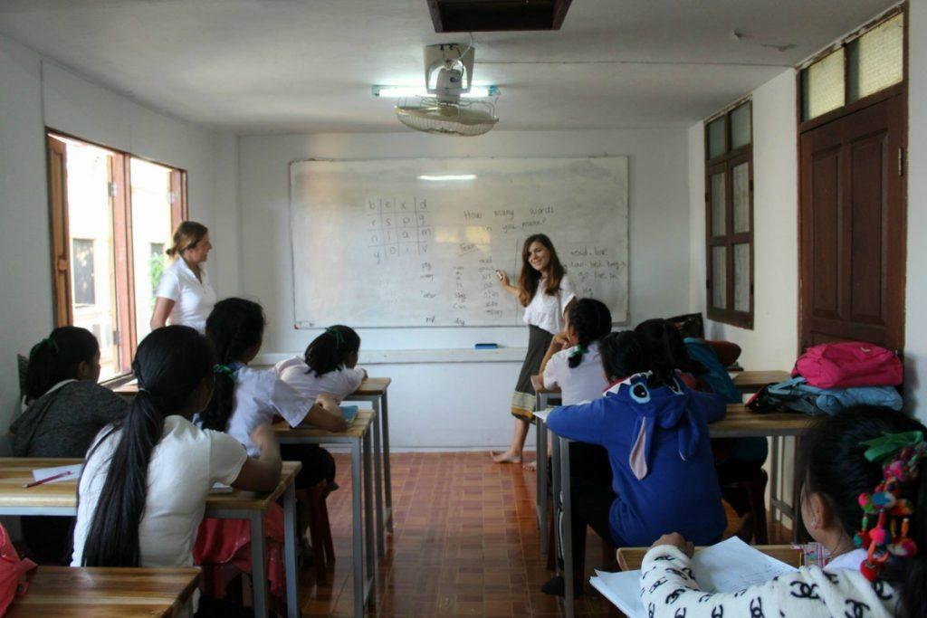 Girl teacher Laos